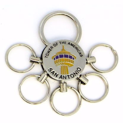 Picture of Keytag Metal Rnd 5 Rings