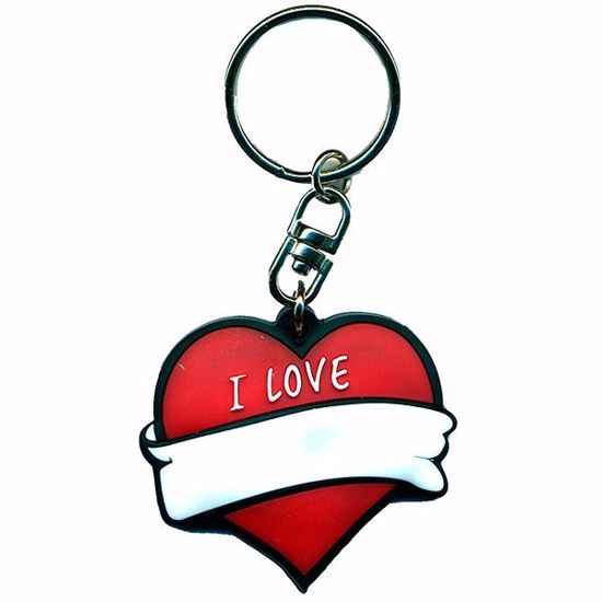 """Picture of Rubber Key Tag - 2 x 2"""""""