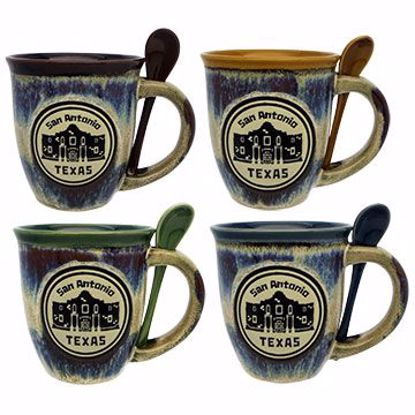 Picture of Mugs 18z Embossed Icon Spoon