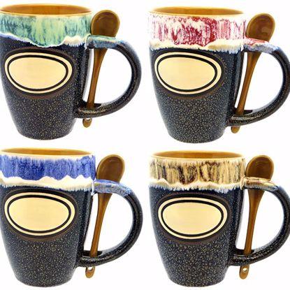 Picture of Mugs 18z Ceramic Tulip w Spoon