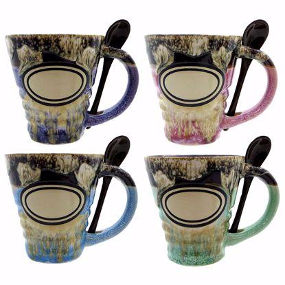 Picture of Mugs 15oz Ceramic Ridged w Spn