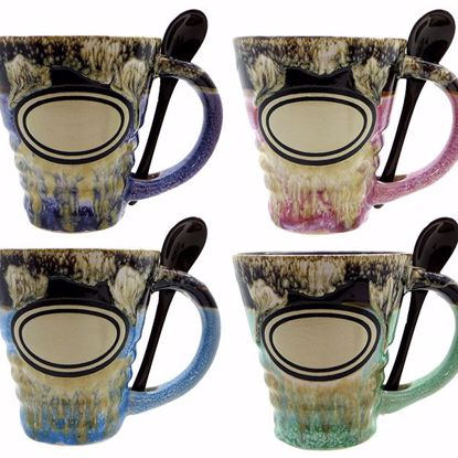 Picture of Mugs 15oz Ceramic Ridged w Spn