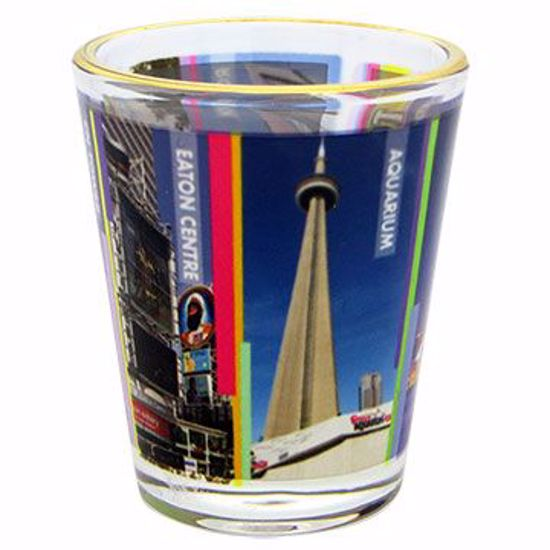 Picture of Shot Glass Dye Sub Gold Rim