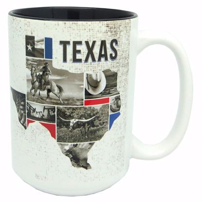 Picture of Mugs 15z Blk Int Glz